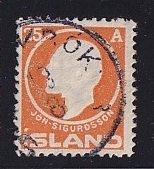 Iceland    #91  used   1911  Jon Sigurdsson  25a