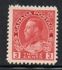 Canada Sc 109 1923  3 c carmine G V Admiral stamp mint
