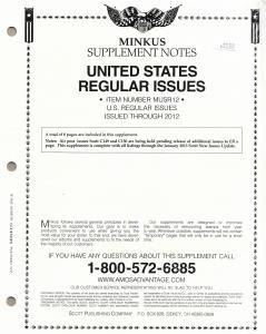 Minkus United States Regular Issues MUSR12 Supplement 2012