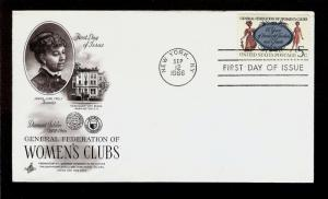 FIRST DAY COVER #1316 Women's Clubs 75th Anniversary 5c ARTCRAFT U/A FDC 1966