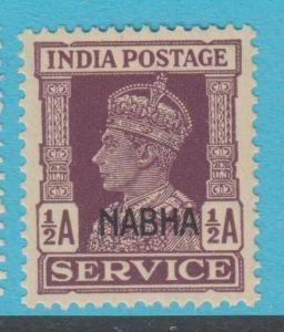 INDIA NABHA O42  MINT  NEVER HINGED OG ** NO FAULTS EXTRA FINE !