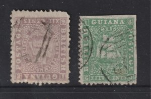 British Guiana x 2 used old ones