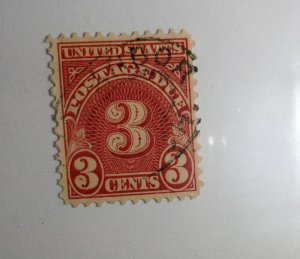 #J72 – 1930 3c Postage Due Stamp