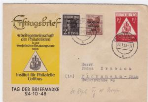 Germany Soviet Zone 1949 Cottbus to Florsheim stamps cover  R20722