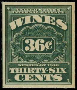 01661 U.S. wine revenue stamp Scott RE44 36-cent Wine stamp mint/unused