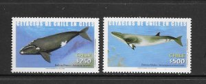 WHALES - CHILE #1413-14   MNH