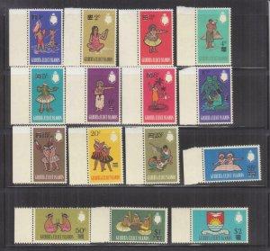 GILBERT & ELLICE ISLANDS, 1966 decimal overprint definitive set of 15, mnh.
