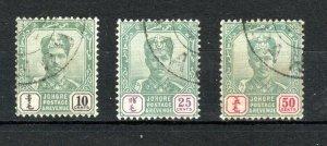 Malaysia - Johore 1896-99 10c to 50c  FU CDS