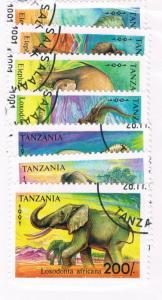Tanzania 792-98 Set Used Elephants (T0011)