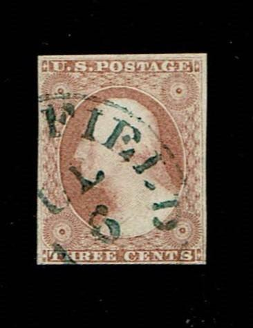 Scott #11 VF-used. SCV - $265.00
