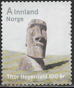 Norway 1740 Used - Thor Heyerdahl Centenary - Easter Island