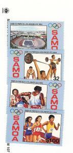 Samoa, 629-32, Summer Olympic Games Singles, MNH