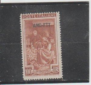 Trieste  Scott#  107  MH  (1950 Overprinted)