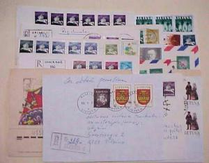 LITHUANIA  12 REGISTERED COVERS INCLUDES 8 ENTIRES
