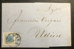 1850s Vienna Austrian Empire Vintage Letter Cover To Udine