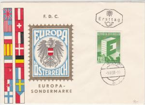 Austria 1959 Europa Crest Multiple Flags Wien Cancel FDC  Stamp Cover Ref 23425