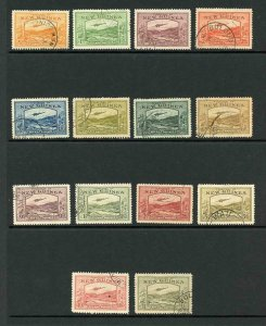 New Guinea SG212/25 Set of 14 Superb used Cat 850 pounds
