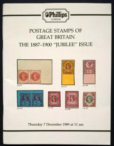 Auction Catalogue GREAT BRITAIN 1887-1900 JUBILEE ISSUE Queen Victoria