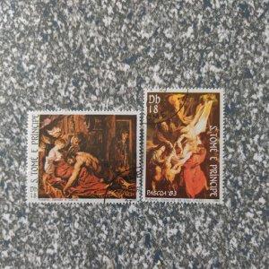 St. Thomas & Prince Isl. 693-4 VF, CV $4.50