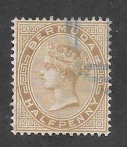 Bermuda Scott #16 Used  2p Queen Victoria 2017 CV $5.25