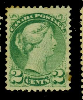 Canada #36 MINT F-VF OG HR Cat$85