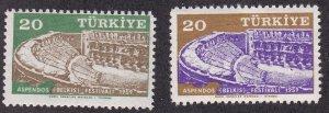 Turkey # 1438-1439, Aspendos Theatre, NH, 1/2 Cat.