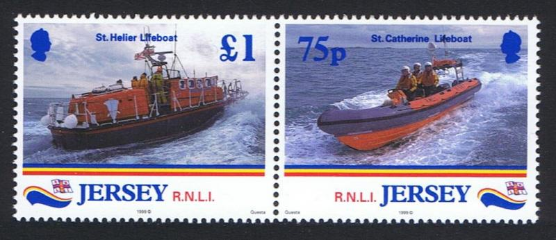 Jersey 175th Anniversary of Royal National Lifeboats Institution pair SG#890-891