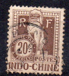 INDOCHINA - FRENCH COLONIAL - TAXATION STAMP - 20ç - 1922 - Used -