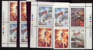 Canada USC #1333a Mint MS Imprint Blocks VF-NH 1991 Dangerous Occupations