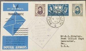 Ireland 1939 Transatlantic First Flight To US