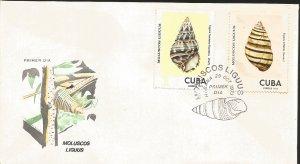 J) 1973 CARIBE, LIGUUS MOLLUSCS, SNAILS, MULTIPLE STMPS, FDC