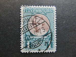 A4P27F127 Letzebuerg Luxembourg Semi-Postal Stamp 1928 1fr + 25c used