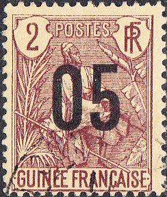 French Guinea #55 Used