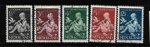 NETHERLANDS, B108-B112, U, 1939 SET