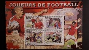 Burundi 2011. - Sport - Football players ** MNH Souvenir sheet (perforated)