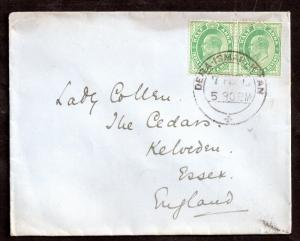 India 1912 cover West Pakistan to UK Dera Ismar Khan CDS WS8683