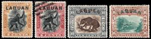 Labuan Scott 96-99 (1899-1901) Mint/Used H VF Complete Set, CV $130.90 B