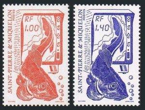 St Pierre & Miquelon 478,481,MNH.Michel 540-541. Fishery Resources,1986.