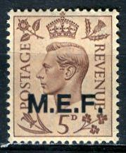 G. B. Middle East Forces 1942: Sc. # 5; **/MNH Single Stamp