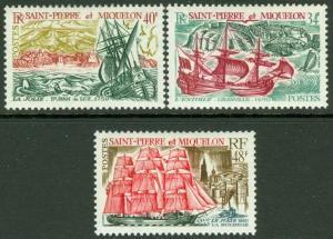 EDW1949SELL : ST PIERRE 1969 Scott #393-95 Ships VF Mint OG VLH Catalog $78.00.