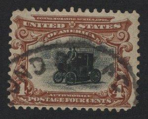 United States USED Scott Number 296  F-VF  #P1  - BARNEYS