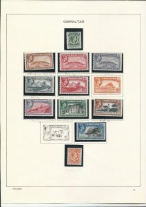 GIBRALTAR 1938-51 KG6 33 STAMPS TO £1 WITH PERF VARS ETC MM CAT £1250