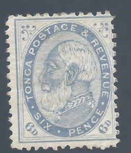 TONGA 1886 KING GEORGE I 6D PERF 12.5