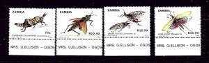 Zambia 478-81 MNH 1989 Grasshoppers