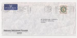 KUWAIT 45f #307 on cover solo usage to SWEDEN 1974