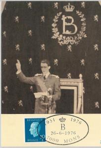 63477  -  BELGIUM - POSTAL HISTORY: MAXIMUM CARD 1976 -  ROYALTY