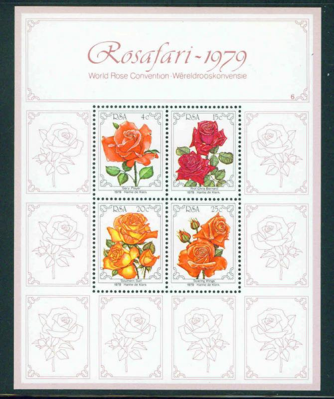 South Africa MNH S/S 528a Roses 1979