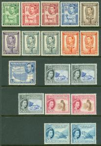 SOMALILAND : Group of Better Mint singles. Some Never Hinged. SG Catalog £213.