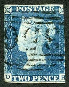 1840 2d Blue (OH) with 1844 Cancel Cat 2500 Pounds