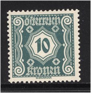 Austria 1922  Scott #J108 MNH